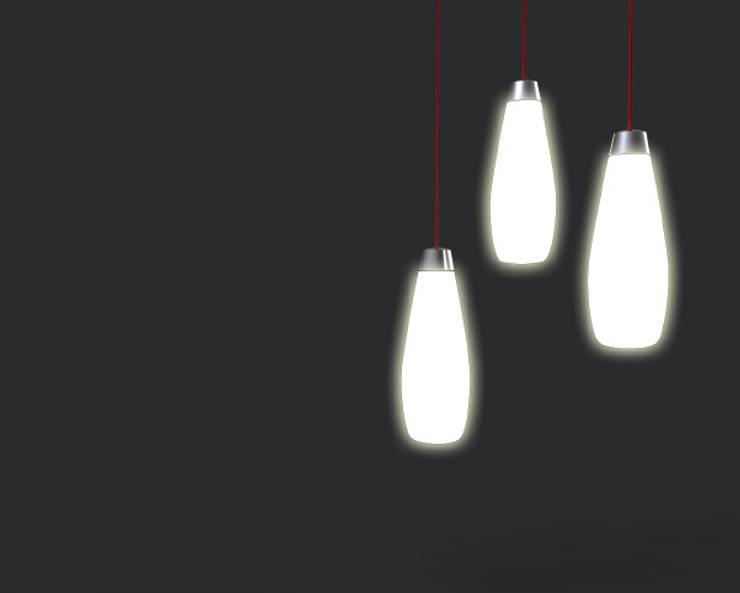 LampadAria: Soggiorno in stile  di Gaudenzio Ciotti - Design Studio