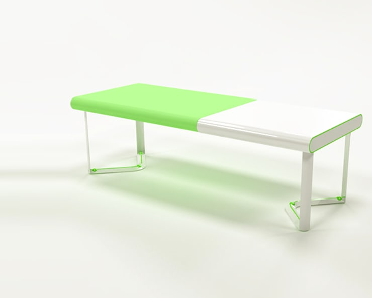 InflaTable: Sala da pranzo in stile  di Gaudenzio Ciotti - Design Studio