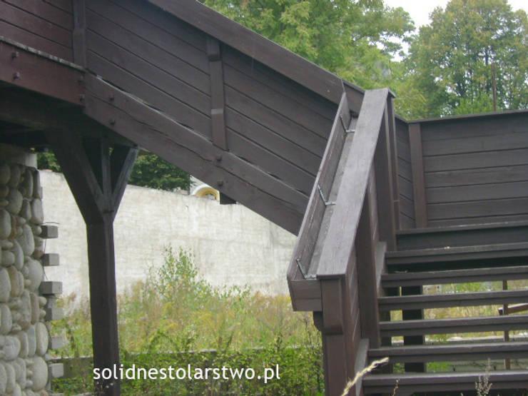 Schody i balustrady drewniane  – solidnestolarstwo.pl: styl , w kategorii  zaprojektowany przez Zakład Stolarski Robert Latawiec,Klasyczny