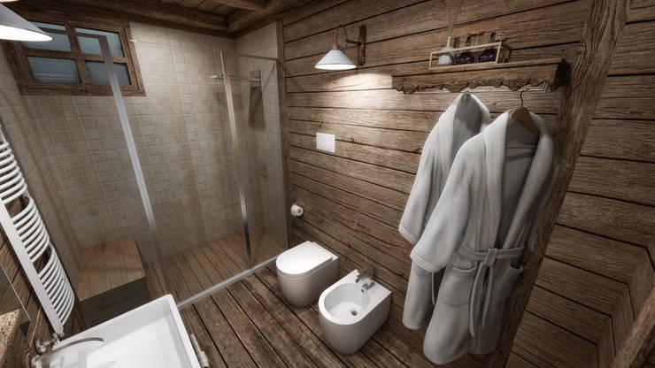 Baños de estilo  por studiosagitair,