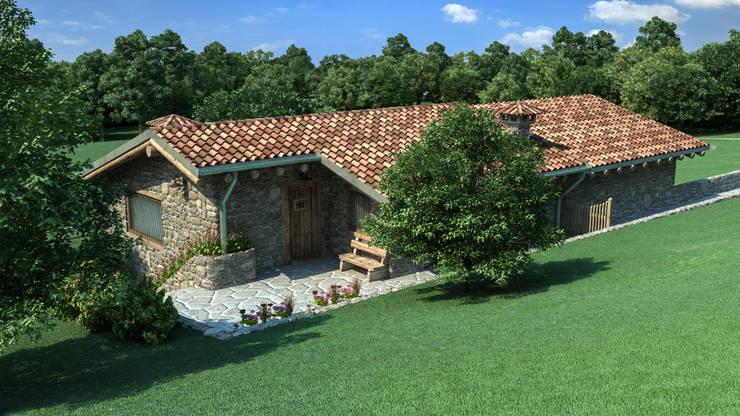 Cascina di Montagna: Case in stile  di studiosagitair