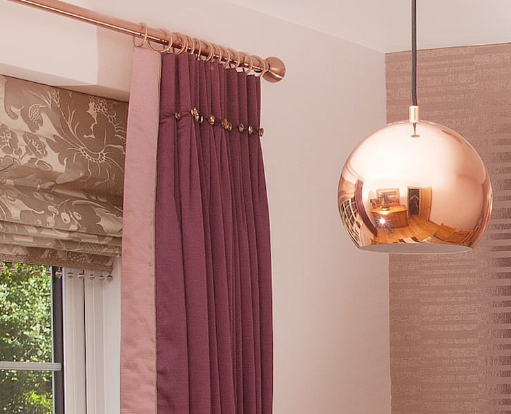 Copper Lighting :  Dining room by Whitehouse Interiors