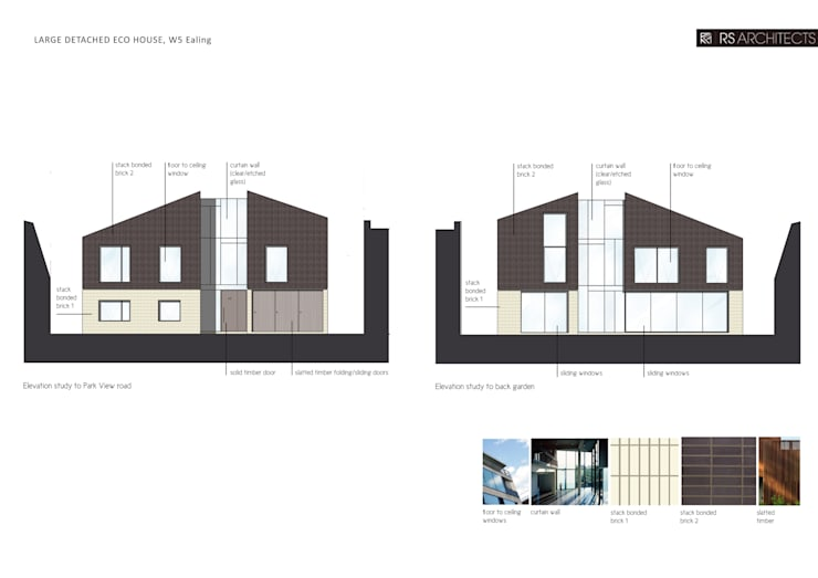 Ealing Eco House:  Houses by RS Architects