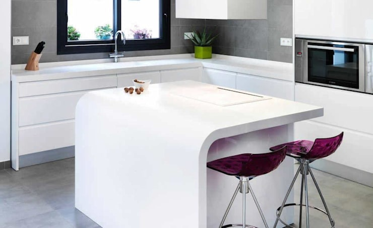 KRION Solid Surface kitchen worktop:  Kitchen by Porcelanosa Scotland