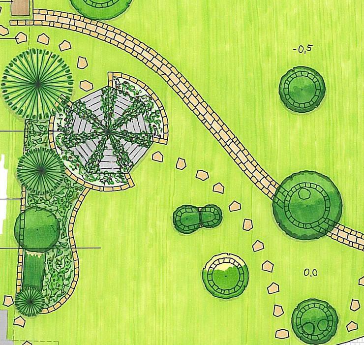 Variante 2 - Organisch:  Garten von MEINE GARTENBERATER,Klassisch