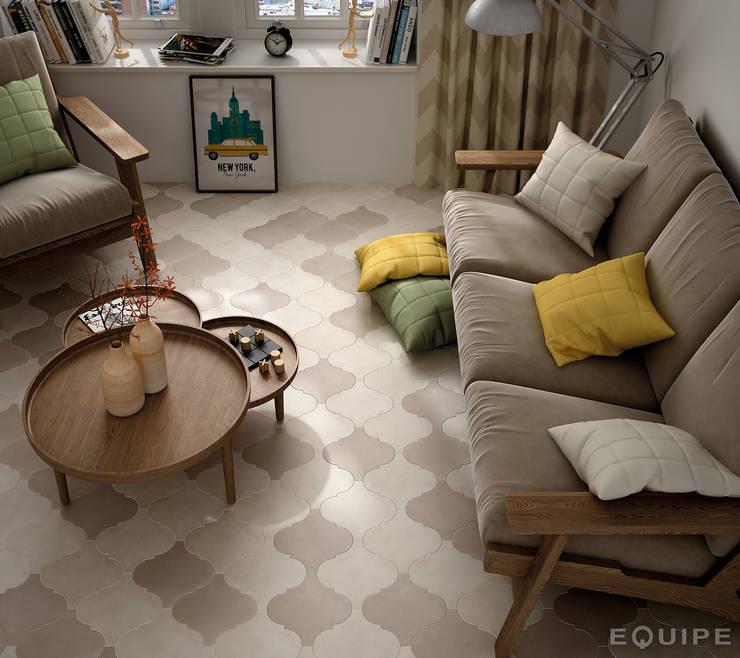 Salas de estilo moderno por Equipe Ceramicas