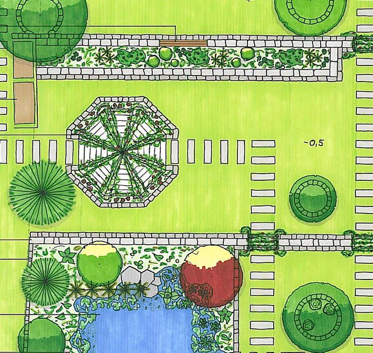 Variante 1 - Orthogonal:  Garten von MEINE GARTENBERATER,Klassisch