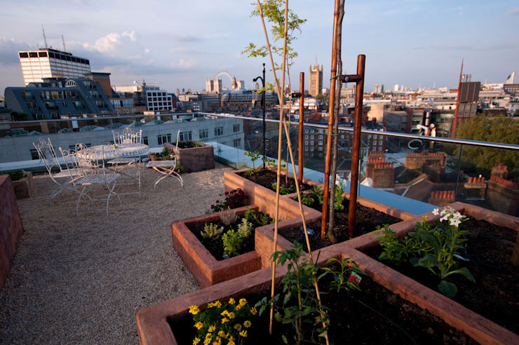 Victoria 2, London:  Terrace by Urban Roof Gardens