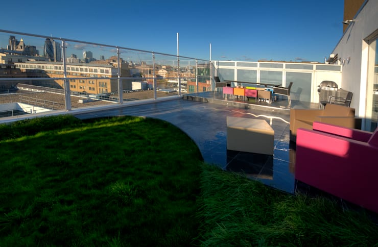 Southbank, London:  Terrace by Urban Roof Gardens