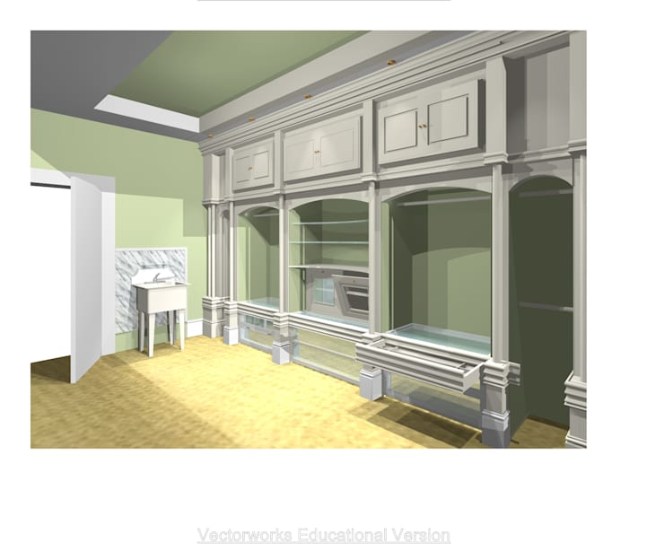 CAD DRAWING (ARITSTS IMPRESSION):  Dressing room by 2A Design