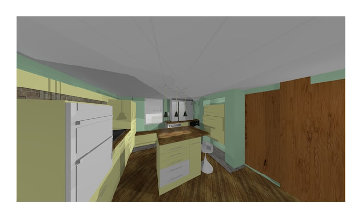 QUICK CAD DRAWING: modern Kitchen by 2A Design