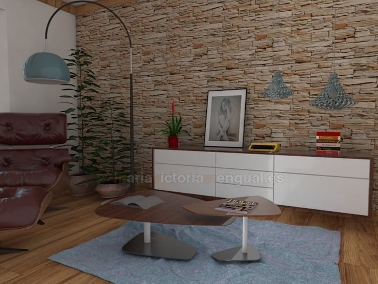 ห้องนั่งเล่น โดย MUMARQ ARQUITECTURA E INTERIORISMO, ผสมผสาน