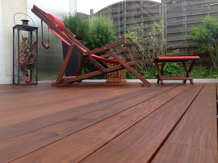 Holzterrassen mit Clip verdeckt montiert:  Garten von BS - Holzdesign