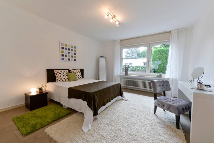Schlafzimmer nachher:  Schlafzimmer von raumessenz homestaging