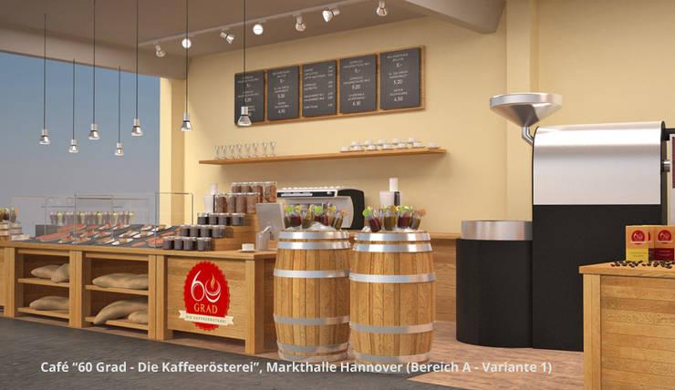 """""""60 Grad"""" + """"Bäckerei Gaues"""" - Markthalle Hannover - Innenarchitektur :  Gastronomie von GID│GOLDMANN-INTERIOR-DESIGN - Innenarchitekt in Sehnde,Rustikal"""