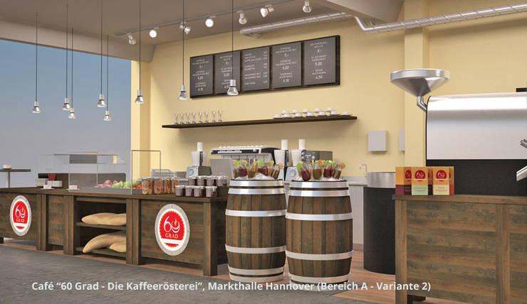 """<q class=""""-first"""">60 Grad</q> + <q>Bäckerei Gaues</q> – Markthalle Hannover – Innenarchitektur :  Gastronomie von GID│GOLDMANN-INTERIOR-DESIGN - Innenarchitekt in Sehnde,Rustikal"""