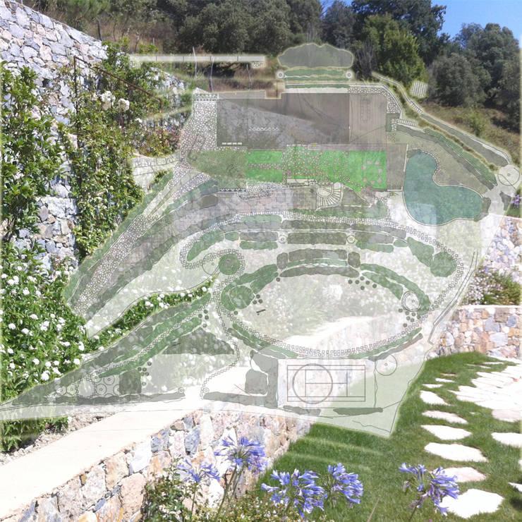 Ritrovamenti: Giardino in stile  di Studio S.O.A.P.