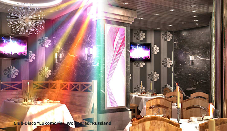 ร้านอาหาร โดย GID│GOLDMANN-INTERIOR-DESIGN - Innenarchitekt in Sehnde, คลาสสิค ไม้จริง Multicolored