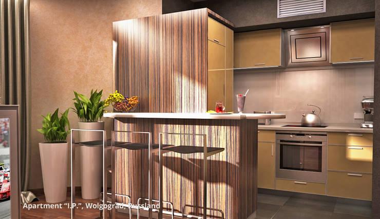 Dapur oleh GID│GOLDMANN-INTERIOR-DESIGN - Innenarchitekt in Sehnde, Modern