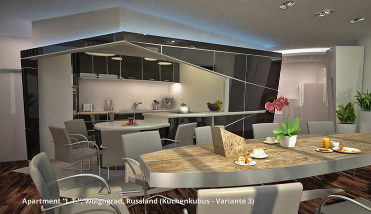 Ruang Makan oleh GID│GOLDMANN-INTERIOR-DESIGN - Innenarchitekt in Sehnde, Modern