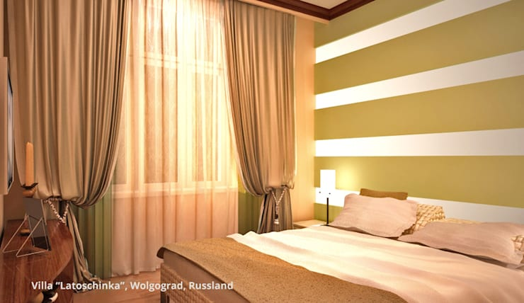 """Villa """"Latoschinka"""" - Wolgograd, Russland:  Schlafzimmer von GID│GOLDMANN - INTERIOR - DESIGN"""