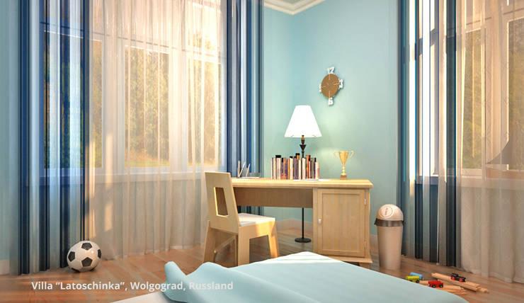Innenarchitektonische Neugestaltung Villa <q>Latoschinka</q> – Wolgograd, Russland:  Kinderzimmer von GID│GOLDMANN-INTERIOR-DESIGN - Innenarchitekt in Sehnde,Klassisch