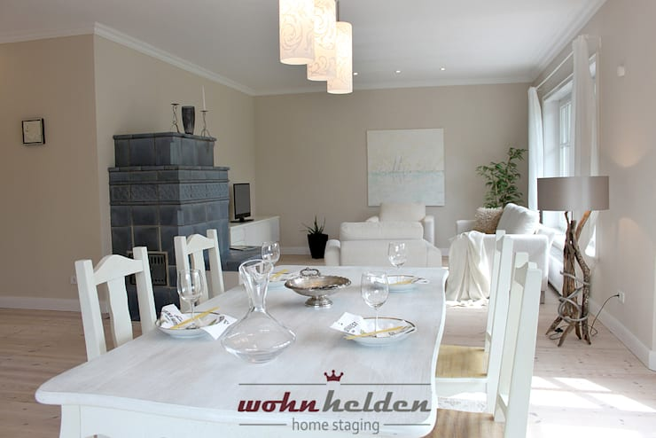 Ruang Keluarga oleh wohnhelden Home Staging, Country
