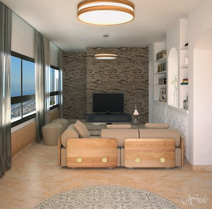 Ruang Keluarga oleh Inside Studio Ltd,