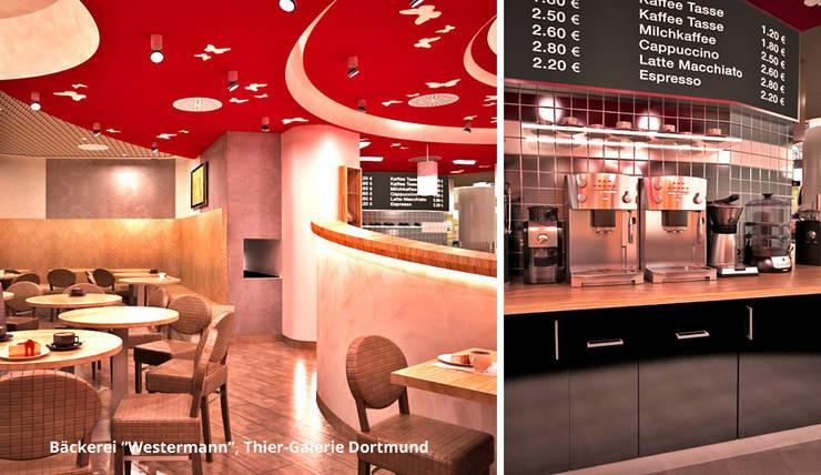 Innenarchitektonische Gesamtkonzeption Bäckerei Westermann – Dortmund:  Gastronomie von GID│GOLDMANN-INTERIOR-DESIGN - Innenarchitekt in Sehnde,