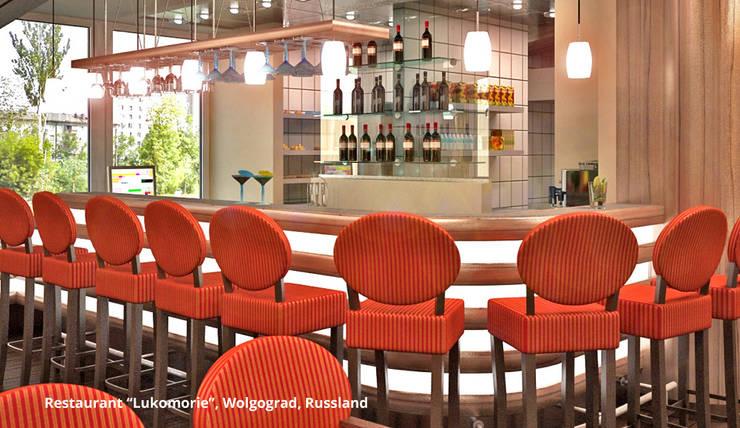 ร้านอาหาร โดย GID│GOLDMANN-INTERIOR-DESIGN - Innenarchitekt in Sehnde, คลาสสิค ไม้เอนจิเนียร์ Transparent