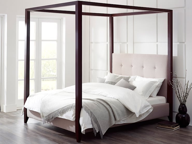 Florence Darkwood Bed:  Bedroom by Living It Up