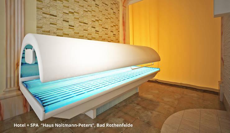 Schwimmbadsanierung und neue Innenarchitektur im Hotel <q>Noltmann-Peters</q> – Bad Rothenfelde:  Hotels von GID│GOLDMANN-INTERIOR-DESIGN - Innenarchitekt in Sehnde,Klassisch