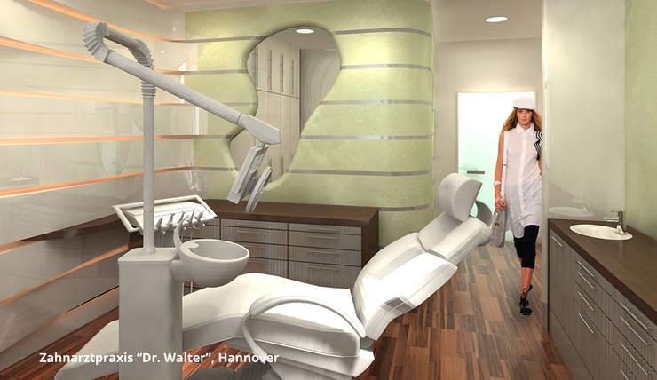 """Innenarchitektonische Neugestaltung Zahnarztpraxis """"Dr. Walter"""" - Hannover:  Praxen von GID│GOLDMANN-INTERIOR-DESIGN - Innenarchitekt in Sehnde,Modern"""