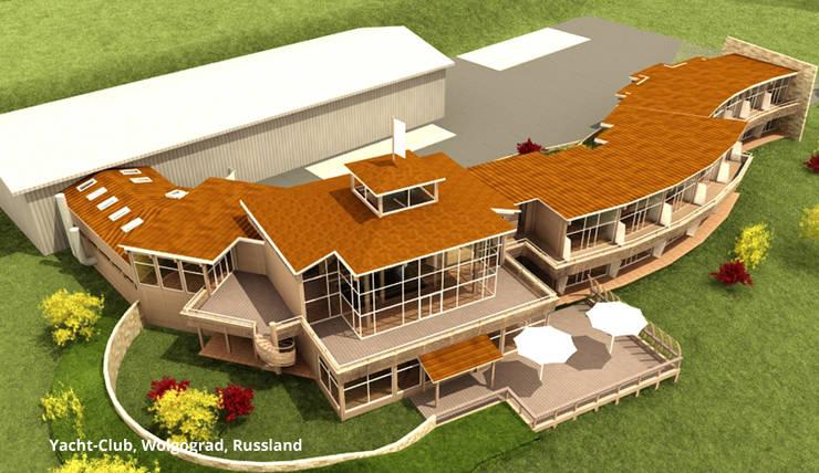 Yacht-Club, Architektur und Innenarchitektur - Wolgograd, Russland:  Hotels von GID│GOLDMANN-INTERIOR-DESIGN - Innenarchitekt in Sehnde,Modern