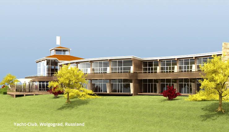 Yacht-Club, Architektur und Innenarchitektur – Wolgograd, Russland:  Hotels von GID│GOLDMANN-INTERIOR-DESIGN - Innenarchitekt in Sehnde,Modern