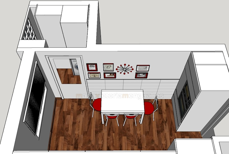 Zona de hornos y mesa: Cocinas de estilo  de MUMARQ ARQUITECTURA E INTERIORISMO