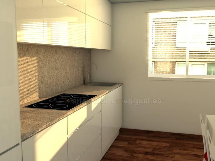 Lineal de cocina en zona de cocción. : Cocinas de estilo  de MUMARQ ARQUITECTURA E INTERIORISMO