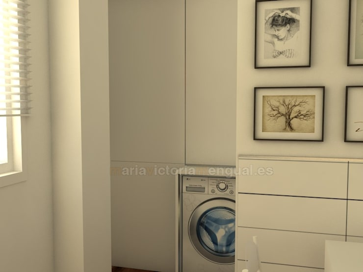 Zona de lavadero: Cocinas de estilo  de MUMARQ ARQUITECTURA E INTERIORISMO