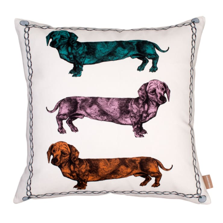 Lisa Bliss Dachshund Cushion:  Living room by Anthea's Home Store