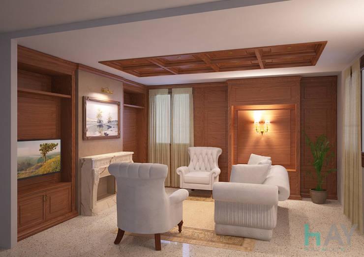 Private sitting room, Vicenza (ITA): Soggiorno in stile  di HAY interiors