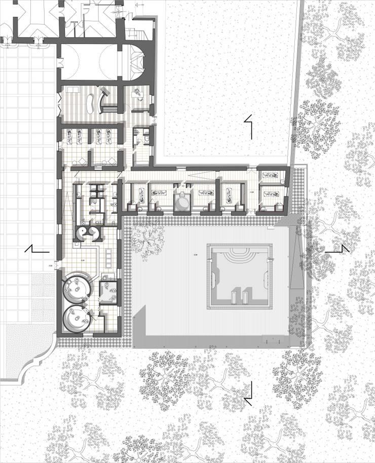 Il Centro Benessere di Villa Bonocore Maletto - San Lorenzo ai colli : Spa in stile  di Studio di Architettura e Design