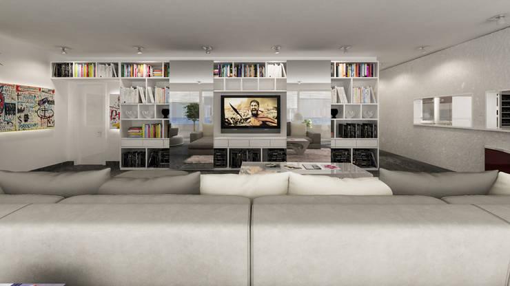 parete attrezzata tv: Soggiorno in stile  di studiosagitair