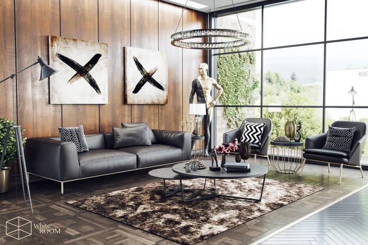 WHITE ROOM DESIGN – Livingroom: modern tarz , Modern