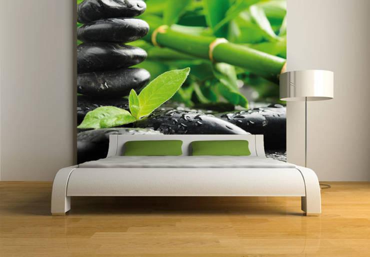 Paredes y pisos de estilo asiático por K&L Wall Art