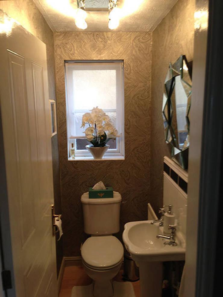 Cloakroom makeover:  Bathroom by Karolina Barnes Studio