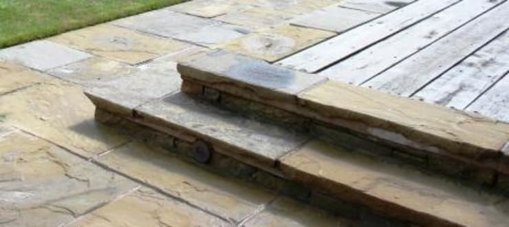 Decking Steps:  Garden by Bestall & Co Landscape Design Ltd