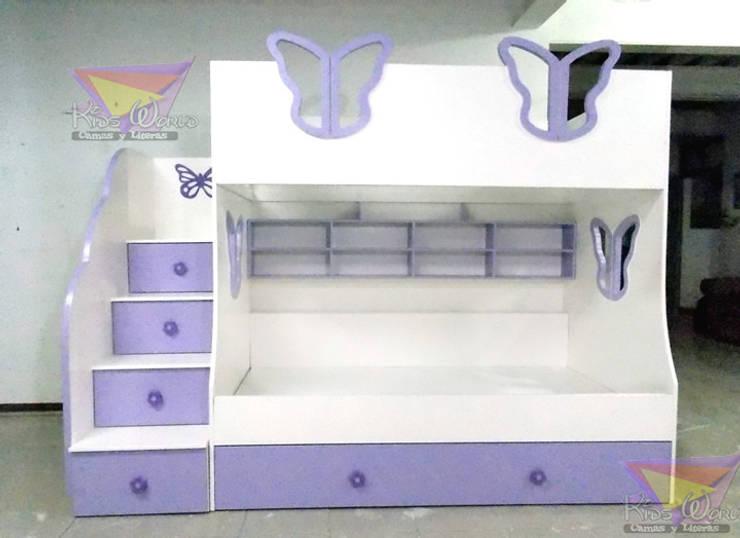 litera triple juvenil de mariposas: Recámaras de estilo  por camas y literas infantiles kids world