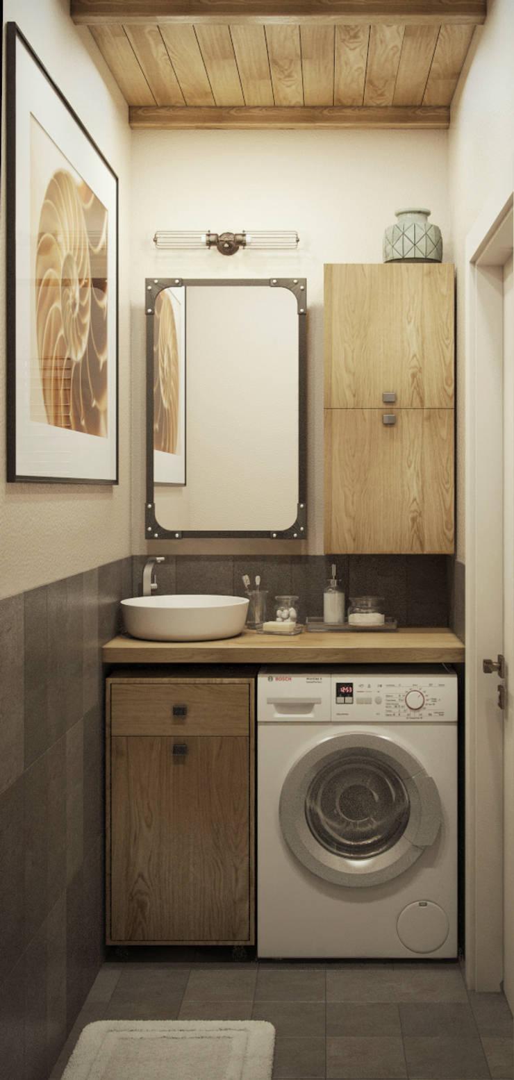 трехкомнатная квартира: Ванные комнаты в . Автор – цуккини