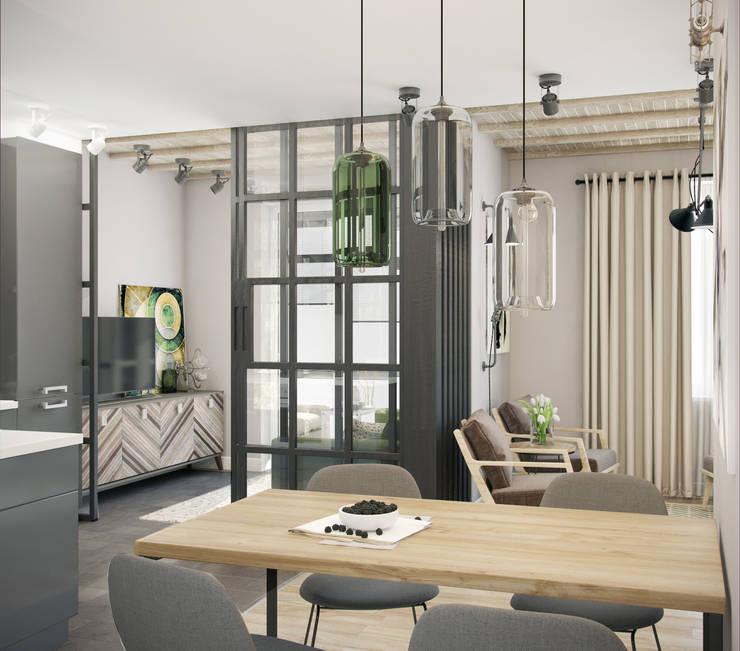 трехкомнатная квартира: Кухни в . Автор – цуккини