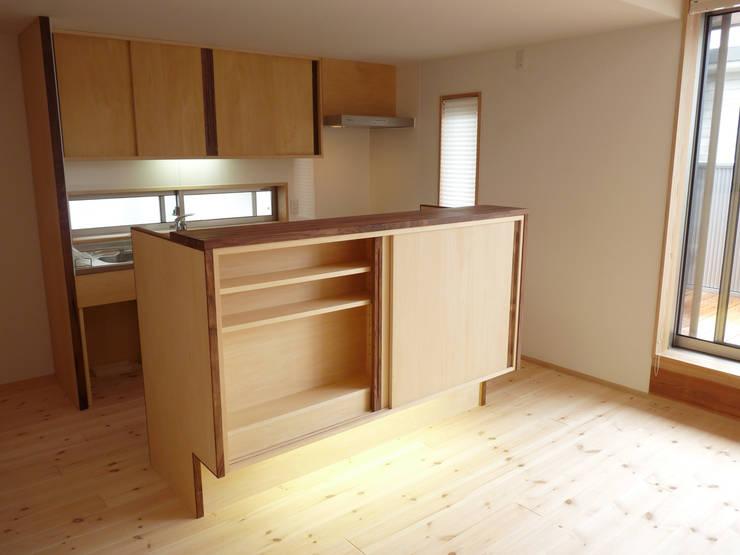 ドミノ住宅: T設計室一級建築士事務所/tsekkeiが手掛けたキッチンです。